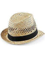 La Vogue Chapeau De Plage Paille Trilby Fedora Voyage Paillette Anti