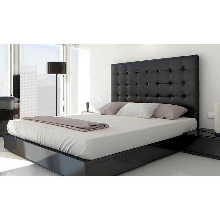 de lit capitonnée 160 NOIR Achat / Vente tête de lit Tête de lit
