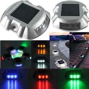 Solaire 6 LED Extérieur Etanche Lampe Lumiere Chemin Jardin Cour