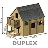 Soulet Cabane Maisonnette en bois duplex SOULET