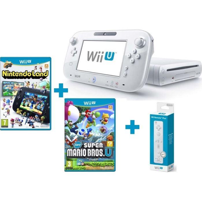 CONSOLE WII U + 2 jeux + Télécommande Wii U Plus