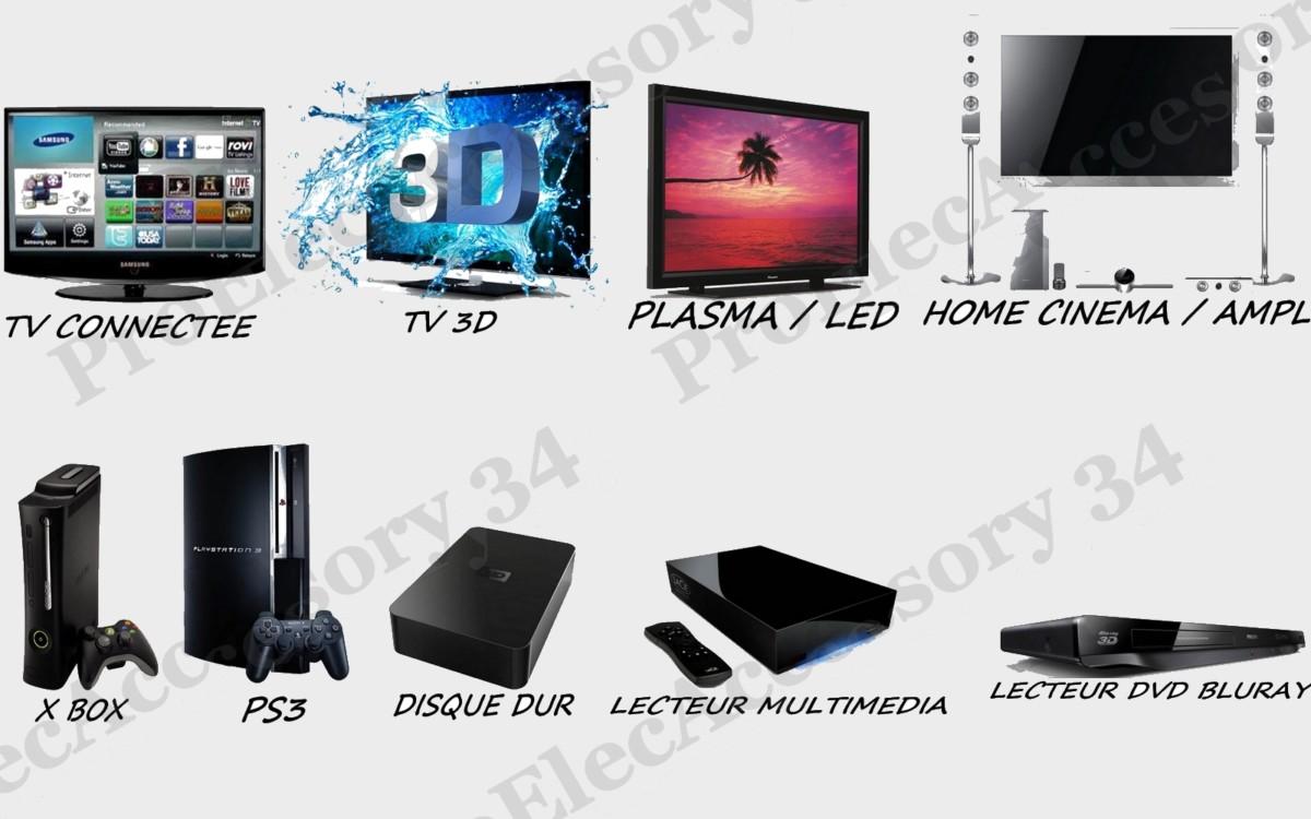 CABLE CÂBLE HDMI HD TV 3D PS3 PLAQUE OR 24k 30cm 50cm 1m 1,5m 2m 3m