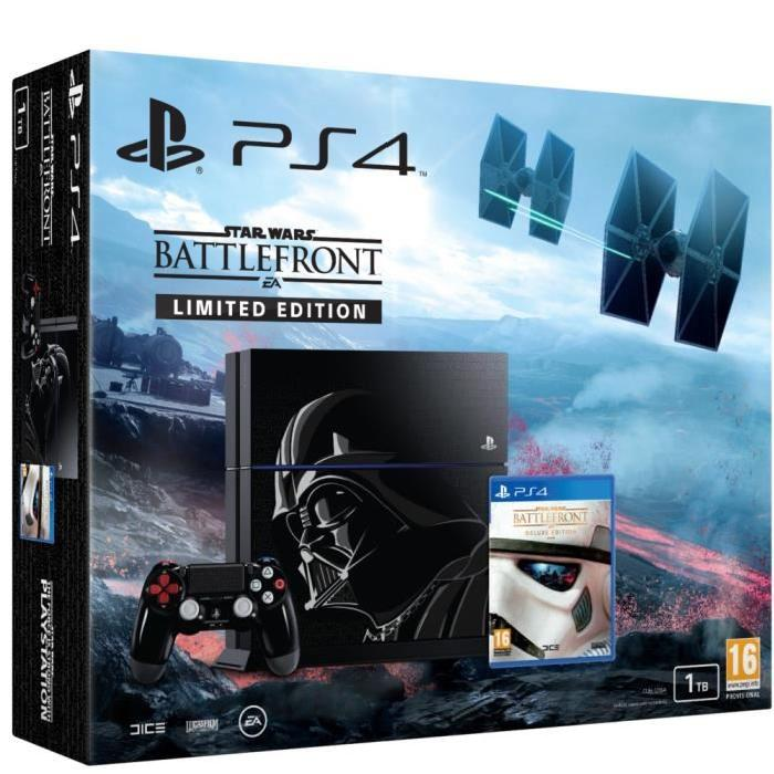 PS4 1 To + Star Wars Battlefront Edition Deluxe Achat / Vente