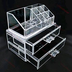à 2 tiroirs pour maquillage/bijoux Transparent: Bricolage