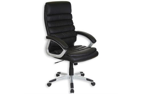 Fauteuil bureau Fauteuil de bureau noir avec accoudoirs IDIMEX