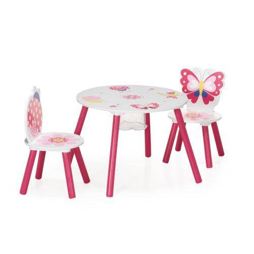 Alinéa Butterfly Ensemble table et chaises pour enfant Rose pas