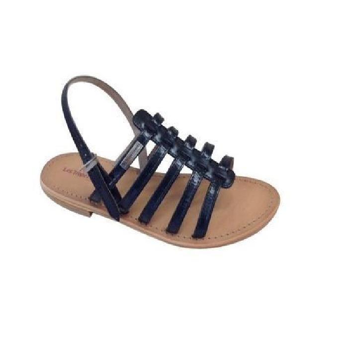 Sandale HAVANE les Tropéziennes cuir NOIR. Sandale mythique