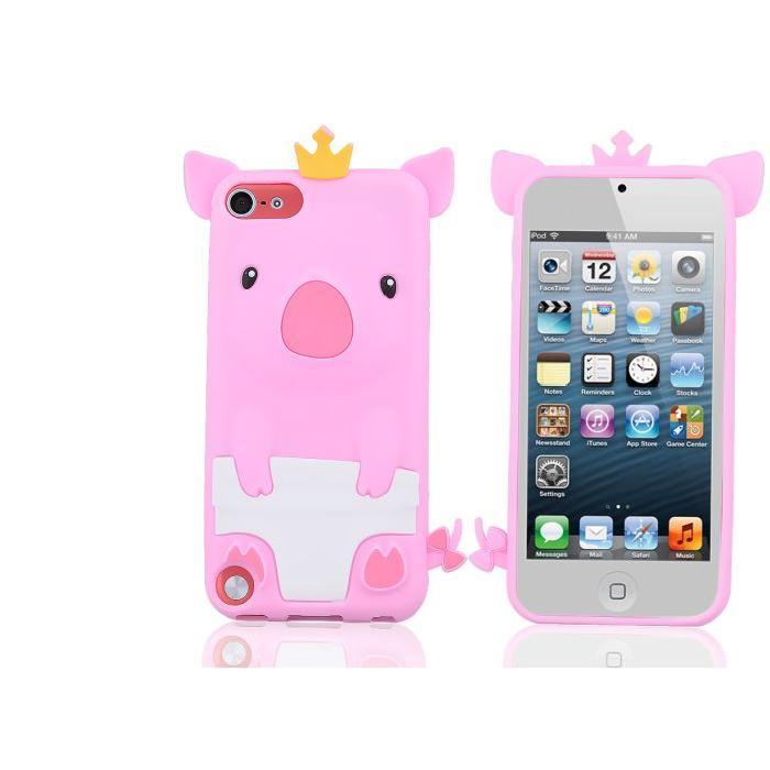 Coque iPod Touch 5 Piggy king coque facade, prix pas cher