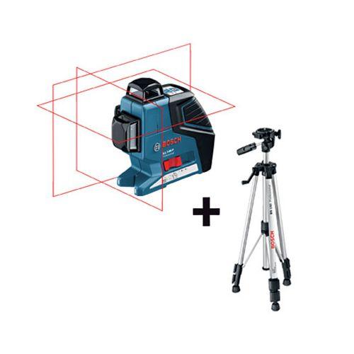 Bosch Niveau Laser 3 Lignes Gll 3 80 P Avec Trepied Bs 150 pas