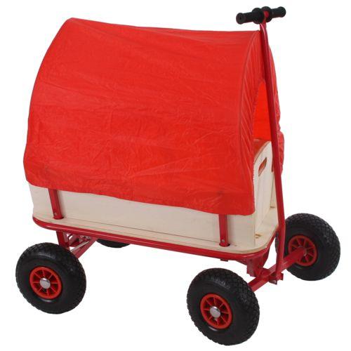Mendler Voiturette charrette à bras chariot, bois, 92x61cm, avec