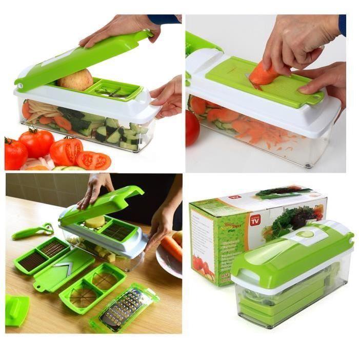 Vococal® Coupe légume 12pcs multifonctionnel de Kitchen