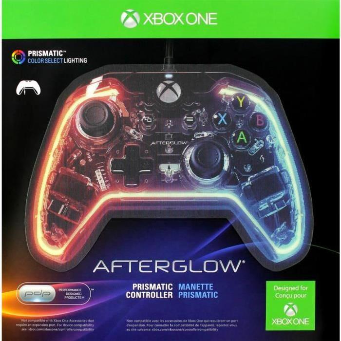 Manette prismatique filaire Afterglow pour Xbox One Prix pas cher