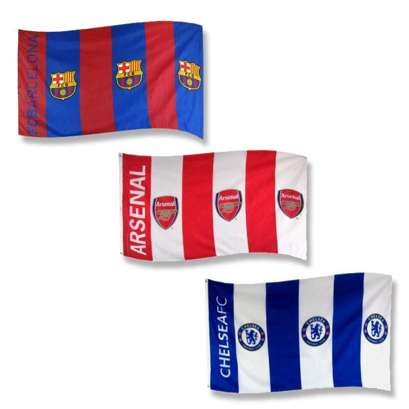 Drapeau DE Supporter ? FC Barcelone ? Arsenal ? Chelsea FC