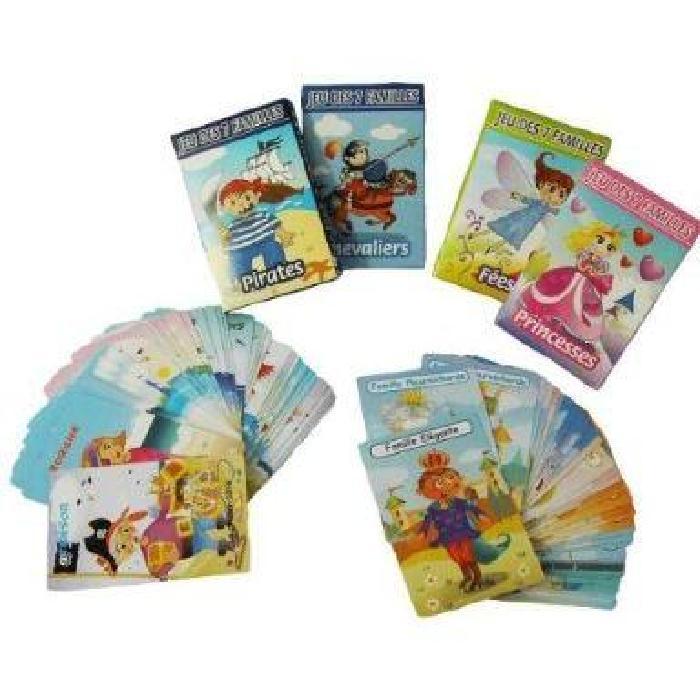 Familles lot de 4 jeux : Princesses, Jeu des 7 Familles lot de