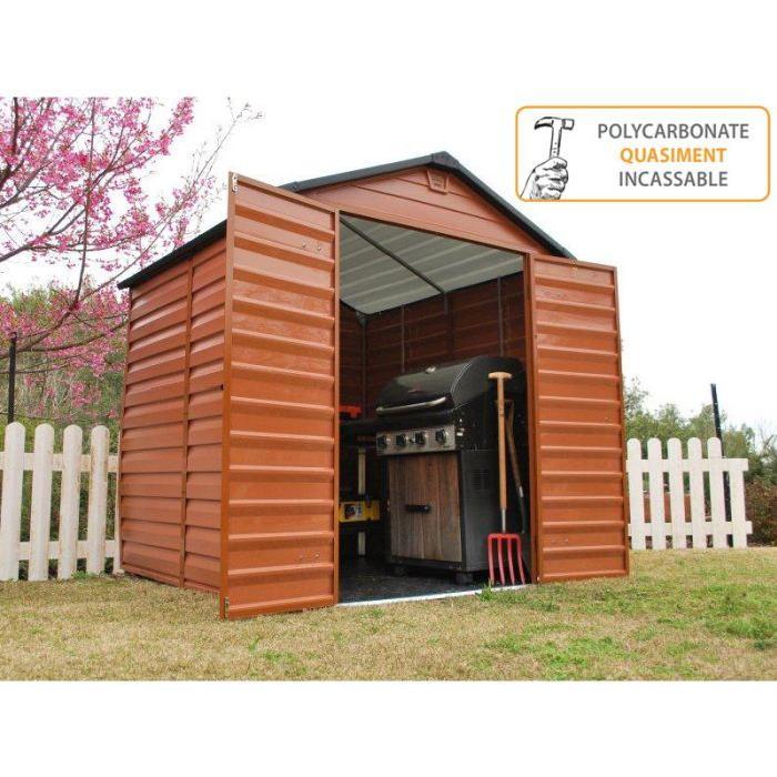 Abri de jardin PVC Toit translucide 3.78 m² Achat / Vente abri