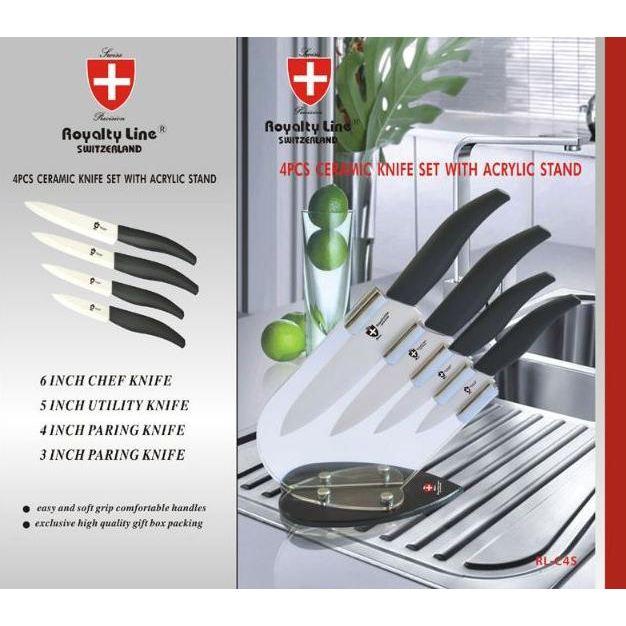 de 4 Couteaux CERAMIQUE Royalty Line RLC4? Achat / Vente couteau