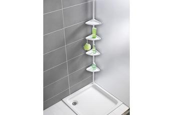 de bain Etagère télescopique d'angle de salle de bain Blanc Wenko