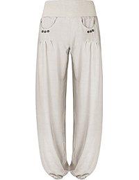 Pantalon Bouffant Femme Blanc : Vêtements