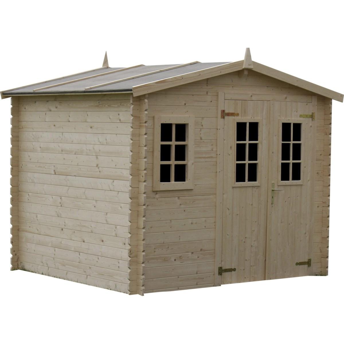 Abri de jardin en bois Luby, 5.48 m², ép. 28 mm |
