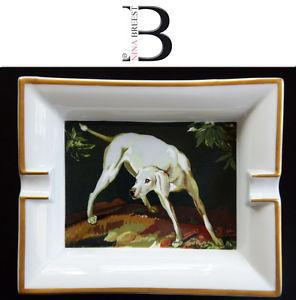 Cendrier en porcelaine HERMÈS Limoges chien