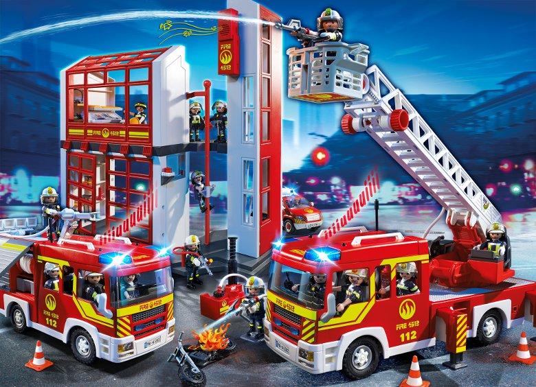 PLAYMOBIL 5362 Camion Pompier Échelle Sirène Achat / Vente univers