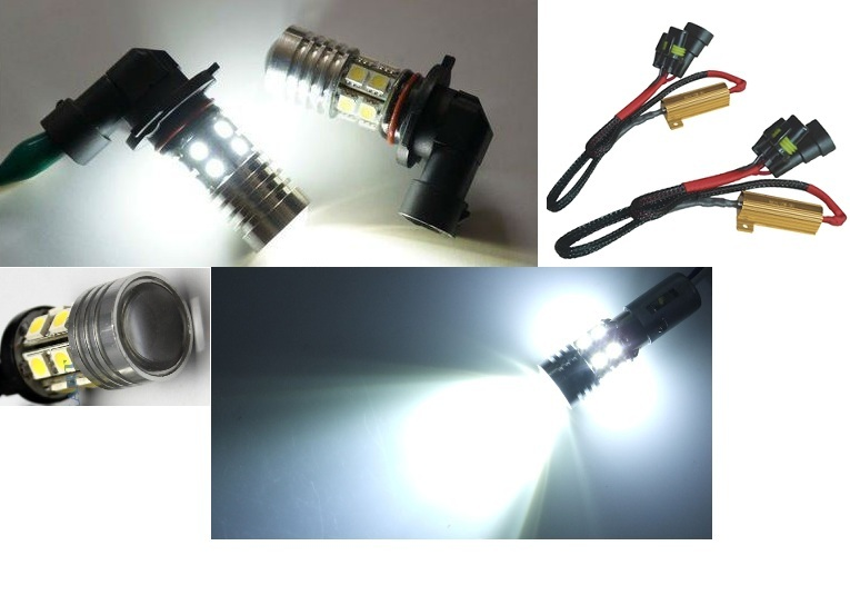 AMPOULE LED HB4 A 36LED SMD + 1 LED LUXEON 5W LENTICULAIRE + SYSTEME