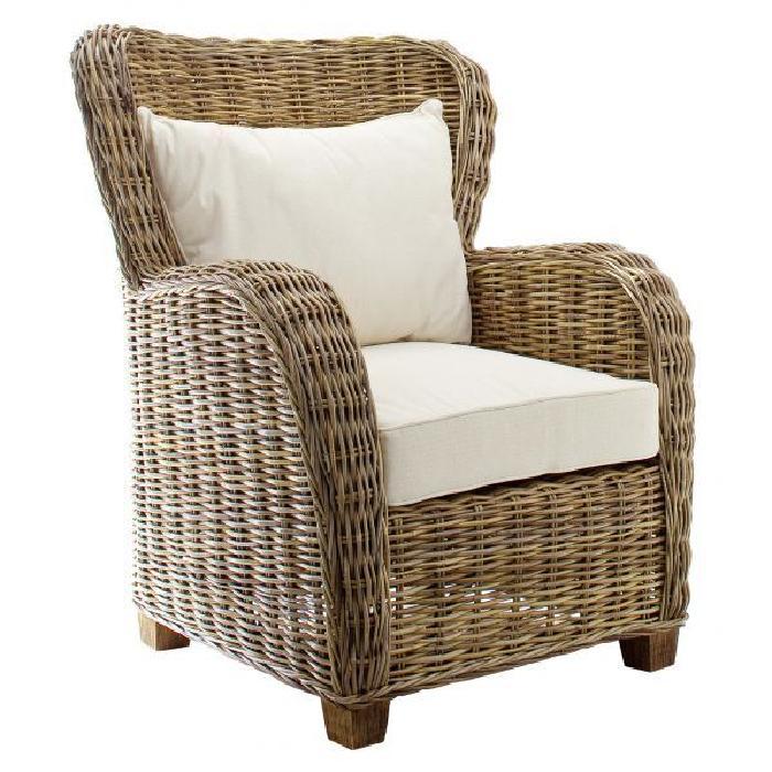 Fauteuil en rotin Queen Lot de 2 Achat / Vente fauteuil Rotin