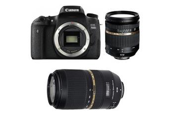 Reflex EOS 760D + TAMRON 17 50 VC + TAMRON 70 300 VC Canon