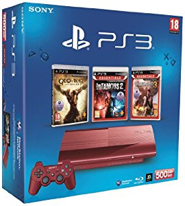 Console PS3 Ultra slim 500 Go rouge + God of War : Ascension