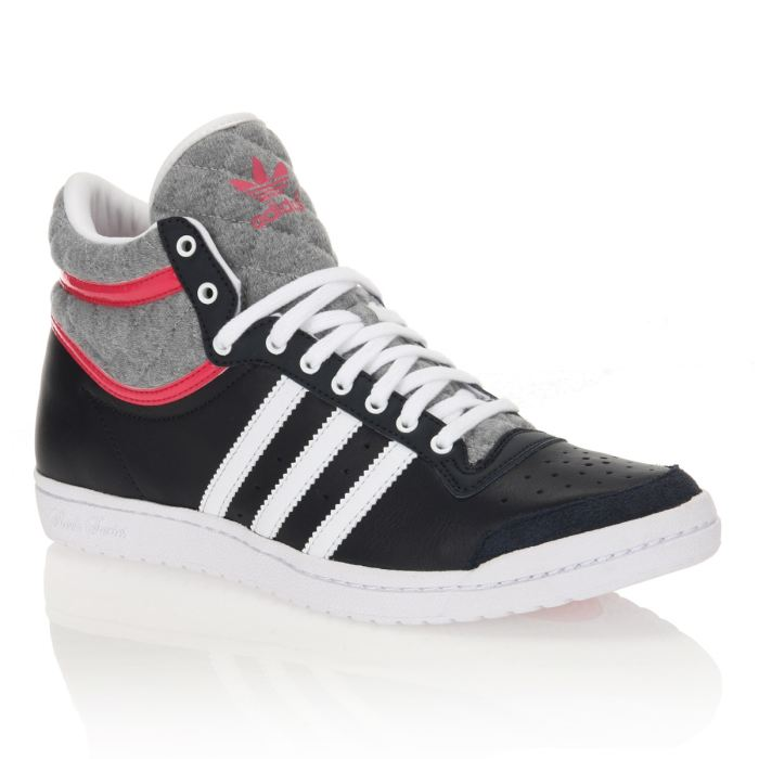 basket femme adidas top ten hi sleek noir/blanc