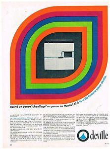 Publicité Advertising 1967 Les Poeles a mazout Deville