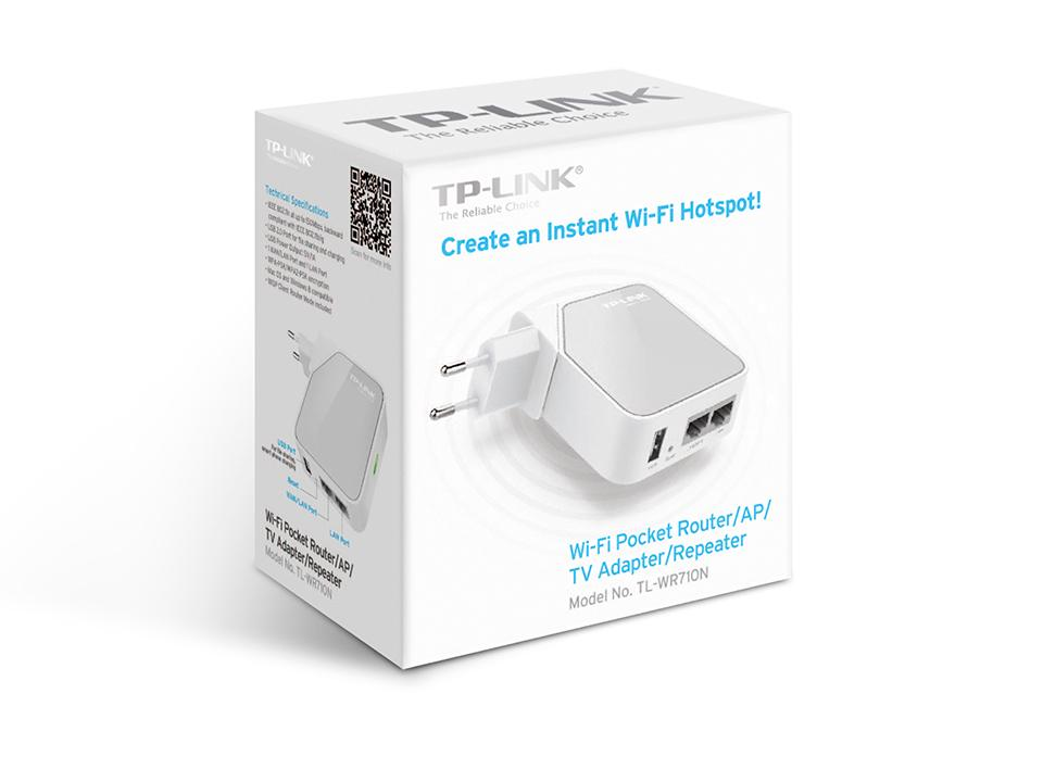TP Link Mini Routeur 150 Mbps Wi Fi N de poche, 1 Port Ethernet, 1
