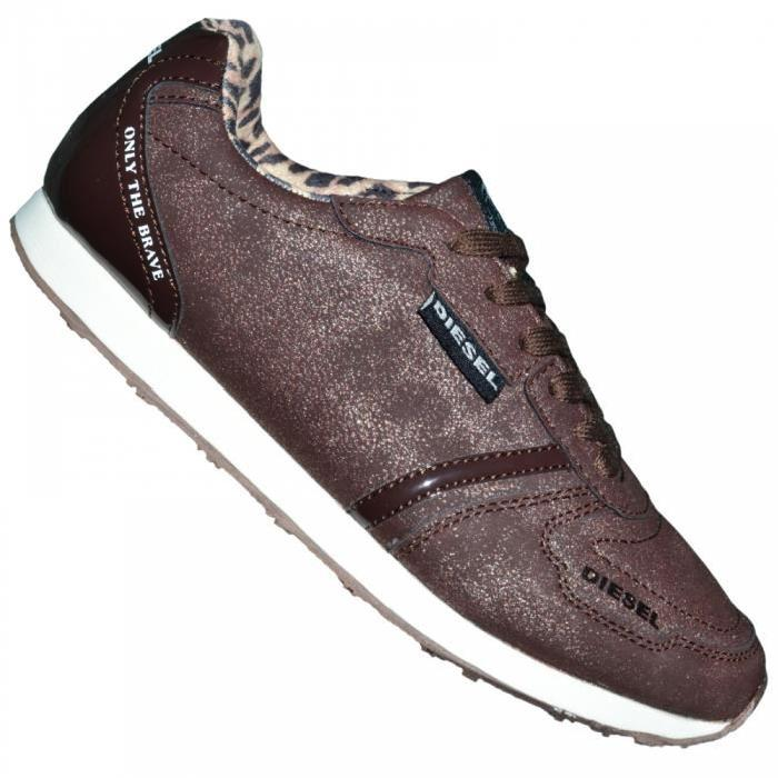 Diesel Basket Sneakers Femme Jow300f Marron Metalise Baskets