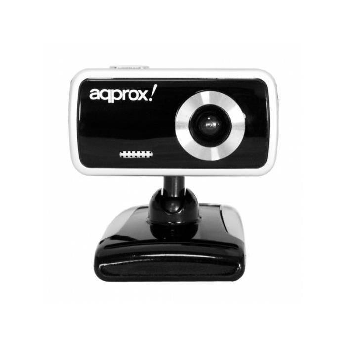 Webcam Compact 1,3MP Noir APPROX WEBCAM 1.3MP AVEC MICRO INTEGRE