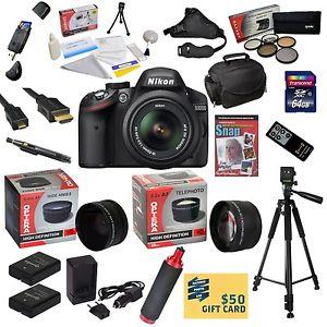 Nikon D3200 Caméra SLR Numérique Avec 18 55mm DX VR Nikkor Objectif