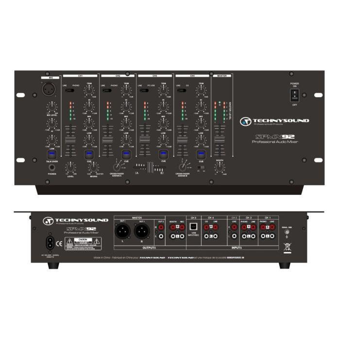 Table de mixage DJ USB 19″ table de mixage, avis et prix pas cher