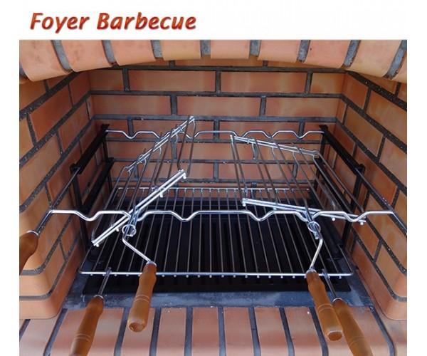 barbecues en brique rouge avec foyer acier et grilles rotatives1
