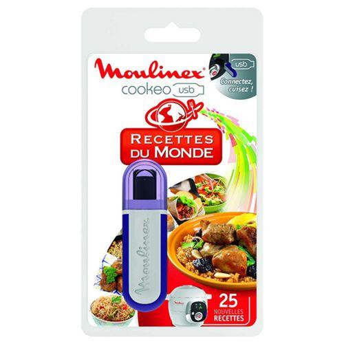 Moulinex clé usb 25 recettes du monde pour cookeo ce7021 xa600100