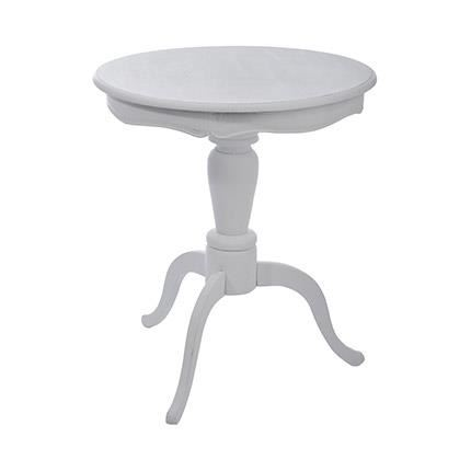 Table gueridon ronde bois massif Blanc Table guéridon ronde en