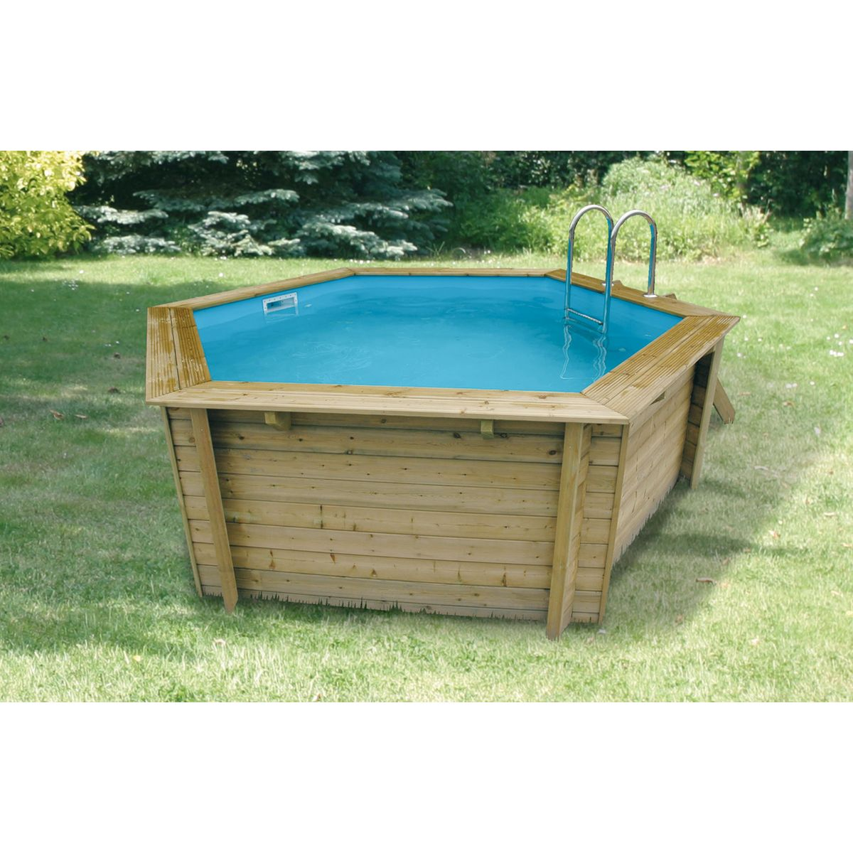 Piscine bois topiwall for Deco piscine hors sol