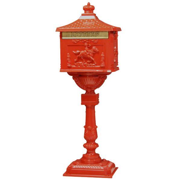Boite aux lettres sur pieds rouge «St Petersbourg» Achat / Vente