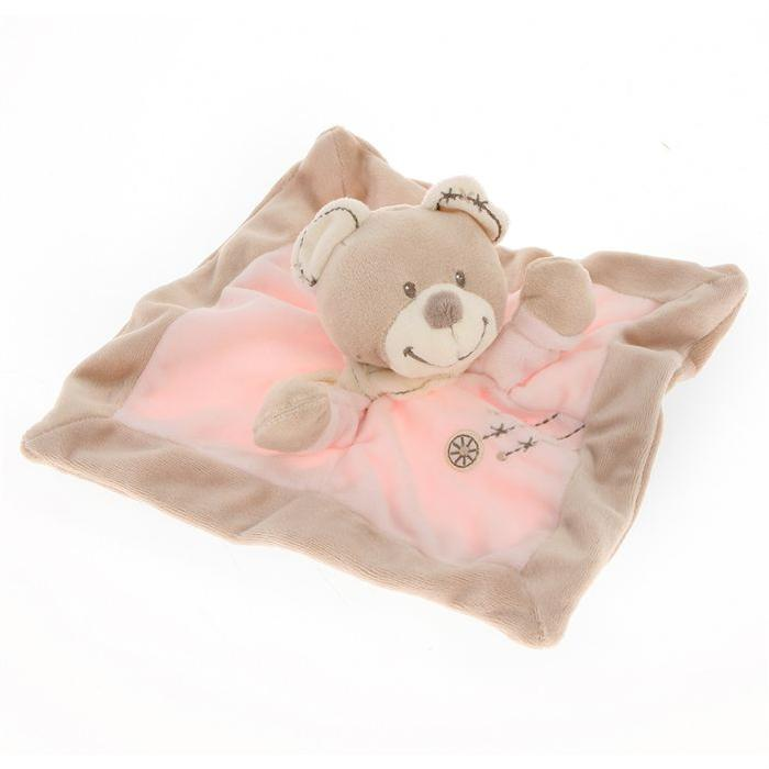 NICOTOY Doudou Ours Rose Cuddles Achat / Vente doudou 3606503030383