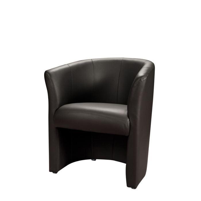 BAYA Fauteuil cabriolet noir Achat / Vente fauteuil Pvc