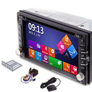 2DIN Car GPS Navigation Win8 UI DVD Player Bluetooth Stereo Radio map