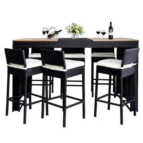 Beautiful Table Haute De Jardin Resine Tressee Images - House Design ...