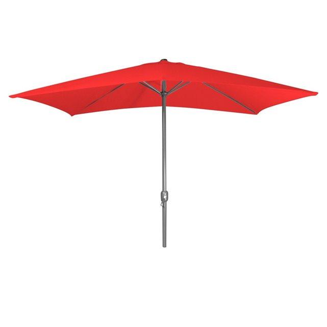 Parasol rouge rectangulaire 2 x 3 m rouge Cemonjardin