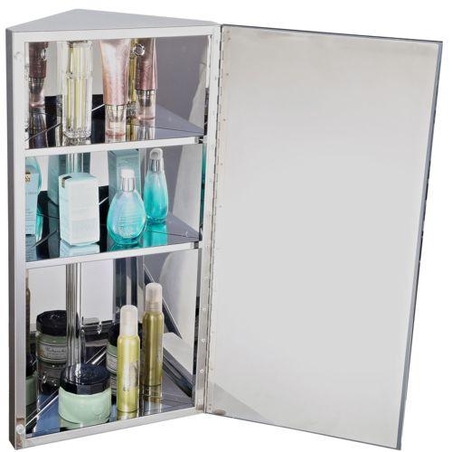 Armoire miroir rangement toilette salle de bain meuble mural d'angle