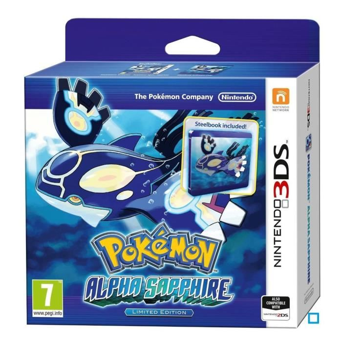 Pokemon Saphir Alpha + Steel Book Jeu 3DS Achat / Vente jeu 3ds