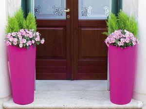 Grand Pot de fleurs rond haut en resine moderne Cache pot 45 x h 100