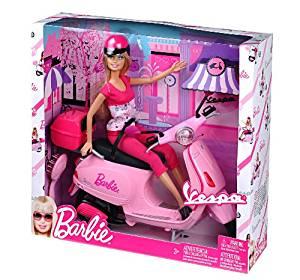 Barbie Vespa Scooter Doll: Jeux et Jouets